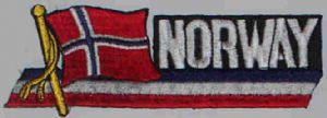 Norway Embroidered Flag Patch, style 01.